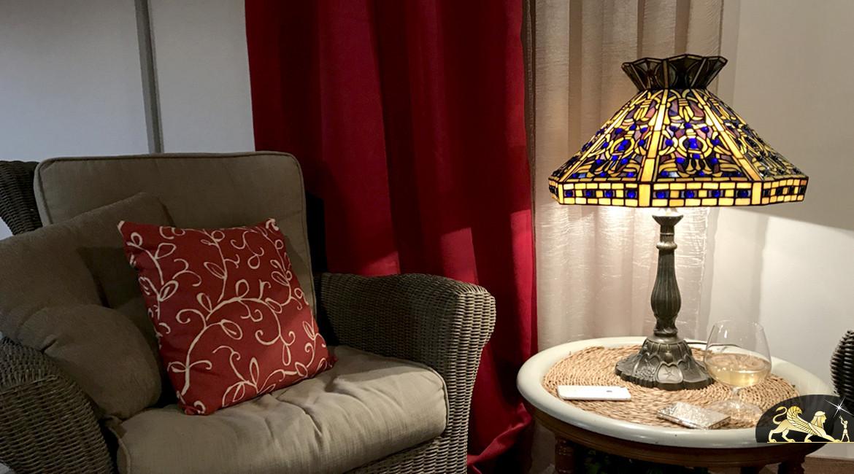 Lampe de salon Tiffany : Poison mortel - Ø48cm