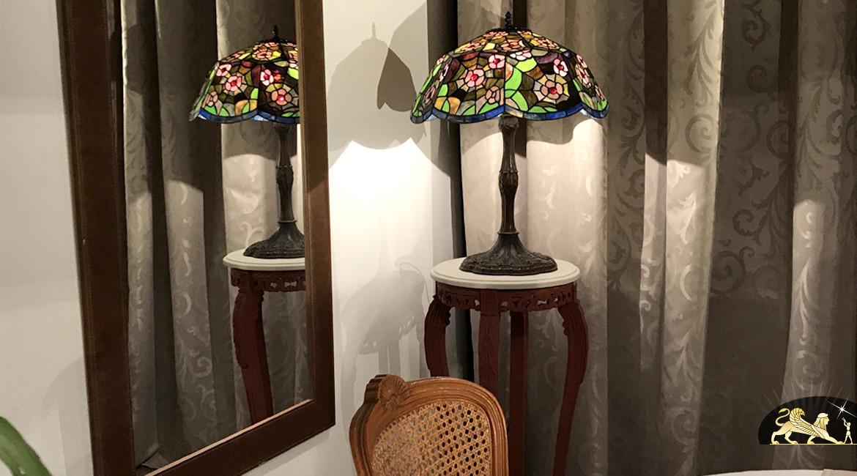 Grande lampe Tiffany : La toile de l'araignée - Ø51cm
