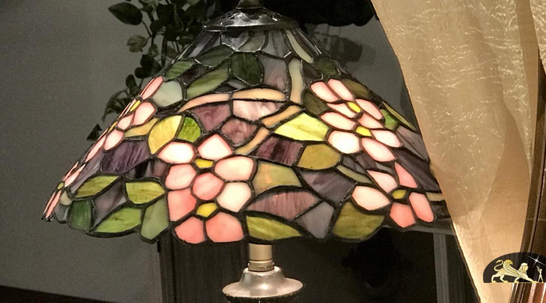 Lampe de chevet Tiffany : Journée d'automne - Ø30cm