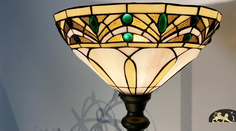 Très grand lampadaire Tiffany : Souvenirs d'Egypte - 200cm / Ø38cm