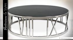 Luxueuse table basse circulaire Chiffres Romains by Eichholtz Ø 100 cm
