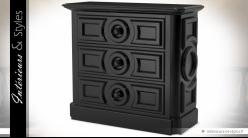 Commode noire à trois tiroirs modèle Cambon by Eichholtz 116 cm