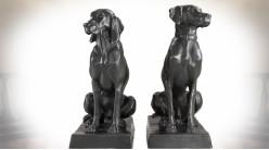 Chiens d'arrêt et de chasse finition bronze marque Eichholtz (set de 2) 73 cm