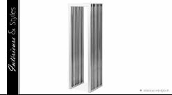 Colonne design en métal chromé Eichholtz, 120cm