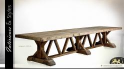 Très grande table de monastère en bois massif 4,30 mètres