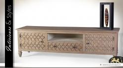 Meuble Tv Rustique En Teck Massif Style Oriental Interieurs Styles