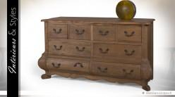 Commode à 8 tiroirs de style classique en chêne massif