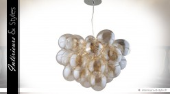 Lustre suspension design en forme de boules de verre Champagne