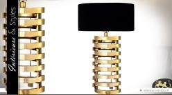 Lampe à poser design noir et or 74 cm