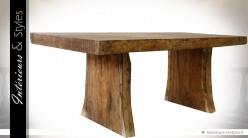 Grande table en teck massif aspect brut 2 mètres