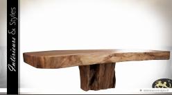 Table basse en suar massif aspect brut