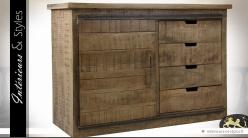 Buffet rustique manguier massif style meuble d'atelier