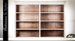 Haut de bibliothèque ou de buffet patine crème à 4 niveaux