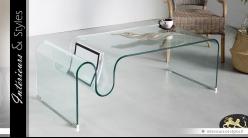 Table basse design en verre 12 mm