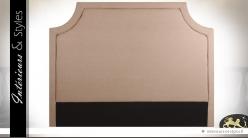 Tête de lit matelassée en 160 tapisée coton beige