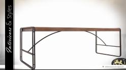 Table de salle à manger design en bois et métal 240 cm