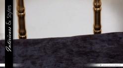 Fauteuil design Art Déco en métal noir et or