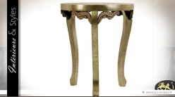 Bout de canapé style néobaroque en mindi sculpté doré