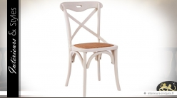 Chaise bistrot patine blanche style romantique