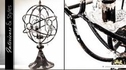 Lampe sphère à pampilles de style rétro (3 feux) 73 cm