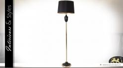 Lampadaire design noir et or 170 cm