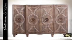 Buffet enfilade 4 portes style Art Déco en manguier
