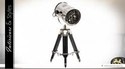 Lampe projecteur de cinéma chromé 72 cm