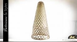 Suspension design en bambou en forme de grand cône 60 cm