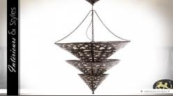 Suspension de style oriental en métal ajouré Ø 60 cm