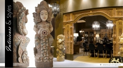 Sculpture orientale balinaise en pierre 160 cm