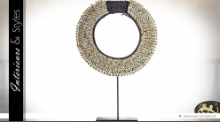 Statuette couronne de coquillages sur socle 44 cm