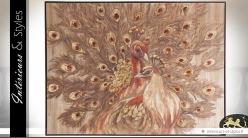 Tableau sur toile Les paons 123 x 92 cm