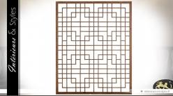 Décoration murale design géométrique en orme teinté 130 cm
