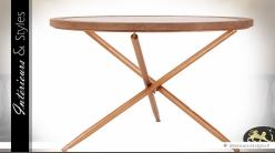 Table basse circulaire design avec plateau en verre Ø 120 cm