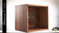 Caisses étagères modulables en bois recyclé (lot de 3)