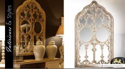 Grand miroir de style fenêtre de chapelle gothique 168 cm