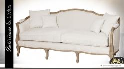 Canapé de style Louis XV en chêne massif