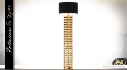 Lampadaire design noir et or 166 cm