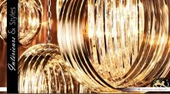 Grande suspension effet bracelets de cristal Ø 70 cm
