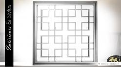 Miroir en métal argenté chromé figures géométriques