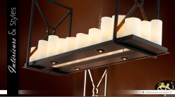 Grande étagère suspension design avec 22 bougies LED