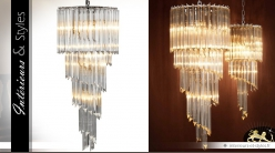 Lustre design inspiration Art Déco forme spiralée 95 cm