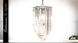 Suspension design cristalline style Murano 50 cm