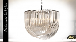 Suspension hexagonale design cristalline style Murano