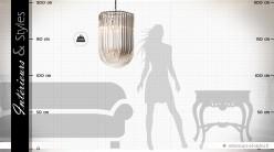 Grande suspension design cristalline style Murano 70 cm