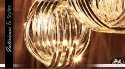 Suspension effet bracelets de cristal Ø 50 cm