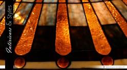 Lampe Tiffany de prestige : Beauté incandescente Ø 50 cm