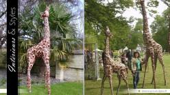Sculpture animalière : petite girafe (2,3 mètres)