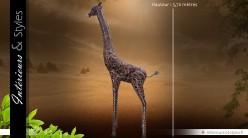 Sculpture animalière : grande girafe (3,7 mètres)