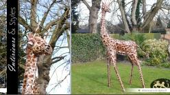Sculpture animalière : girafe (version moyenne : 2,82 mètres)